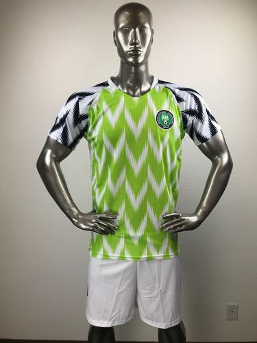 6b5310d3d1 Nigeria Visita Uniforme Futbol Jersey Playera Personalizada.   285