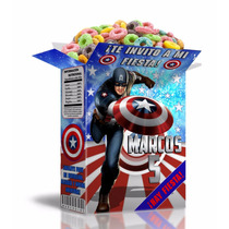 Kit Imprimible Capitan America - Decoraciones Cajitas Fiesta