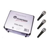 Set 3 Microfonos Dinamicos Unidireccional Pro-58x3
