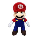 Peluche Mario Bros Excelente Calidad Bordado 28cm