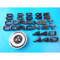 Emblemas Dodge Coronet 440 Kit 1967-1968 Centro De Volante