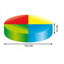 Cojín Para Estimulacion Temprana Redondo Material Didactico