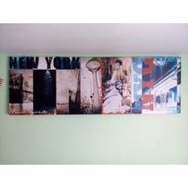 Cuadro De Nueva York 180x60cm.
