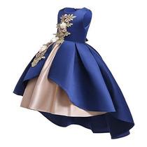 Vestido Color Azul Rey Para Fiesta De Niñas Marca Aimjchld