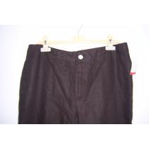 Pantalón Para Dama Polo Ralph Lauren 100% Lino Cafe T- 12