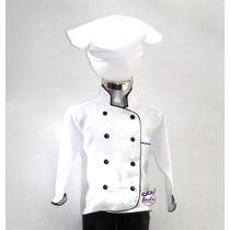 Disfraz De Cheff !! Cocinero Gorro Niño Chef Bata