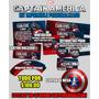 Capitan America Kit Imprimible Invitaciones Etiquetas Y Mas!