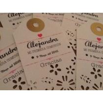 Kit De 40 Etiquetas Impresas Agradecimiento Para Fiestas.