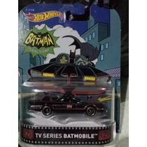 H.w. Retro. Tv Series Batmobile , Llantas De Goma. Esc. 1;64