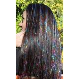 Extensiones De Brillos, Glitter Hair Tinsel 140 Hilos 80 Cm