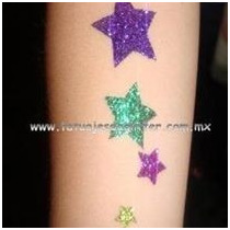 Kit De 50 Tatuajes De Glitter / Diamantina