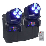 Par Cabeza Movil Wash Led Dj Robotica Luces Dmx Con Bolsa