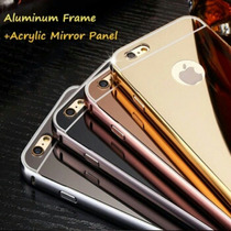 Funda Bumper Aluminio Espejo Iphone 4s 5 5s 6 (4.7) & 6 Plus