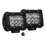 2 Faros Osun Led 3030 Alta Intensidad 36w+base+switch Autos