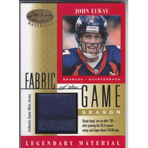 2001 Leaf Certified Mat Fotg Gold Jersey John Elway Qb 16/93