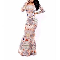 Sexy Vestido Largo Maxi Strech Cola Sirena Envio Gratis