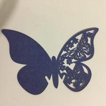 Mariposas De Papel Decoración Copas Azul Marino