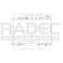 Radiador Nissan Murano 2003-2004-2005 V6 3.5 Lts Automatico