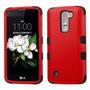 Funda Case Para Lg Q7 / Lg K7 Uso Rudo Doble Protector Rojo