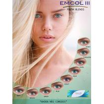 Pupilentes Emcol, 5 Pares, Mas 5 Estuches Mas Envio Gratis!