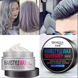 Hairstyle Wax Silver Plata Gris Bioaqua Cera Para Peinar