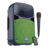 Bafle Amplificado De 8 Bluetooth Bateria Y Microfono 110w