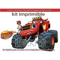 Kit Imprimible Candy Bar Blaze And The Monsters Machines