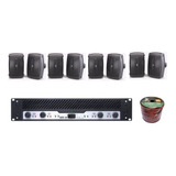 Audio Instalacion Negro 2 Zonas 8 Bocinas Yamaha Nsaw390