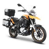 Moto Italika V200 Negro / Naranja