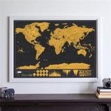 Mapa Rascable Mapa De Rascar Mundo Negro Grande 82.5x59.5cm