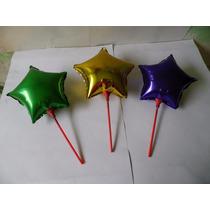 Globos Metálicos D Estrellas 9´´ Para Centros D Mesa 10pzas
