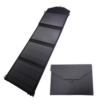 Panel Solar 20w Portátil Usb Cargador Para Celular Negro