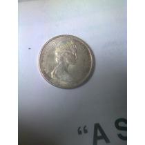 Moneda Antigua 25 Centavos 1967 Canada