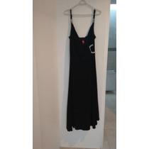 Liz Minelli Vestido Negro Asimétrico 36 Perfectas Condicione