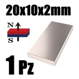 1 Imán Neodimio 20mm X 10mm X 2mm