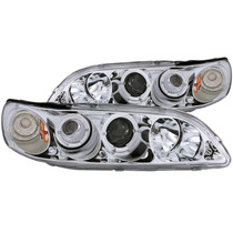 Honda Accord 98-02 Projector H.l G2 Halo Chrome Clear Amber