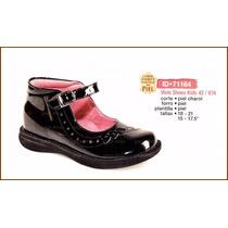 7 Zapato Escolar Piel Charol Para Niña En Gagashop