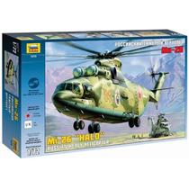 Zvezda Helicoptero Mi-26 Heavy Sovietico 1/72 Armar Pintar