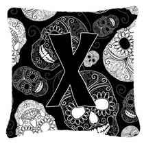 Día De La Letra X De Los Cráneos Muertos Negro Tela De Lon