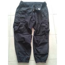 Pantalon Tactico Negro Tipo Swat Con Resorte