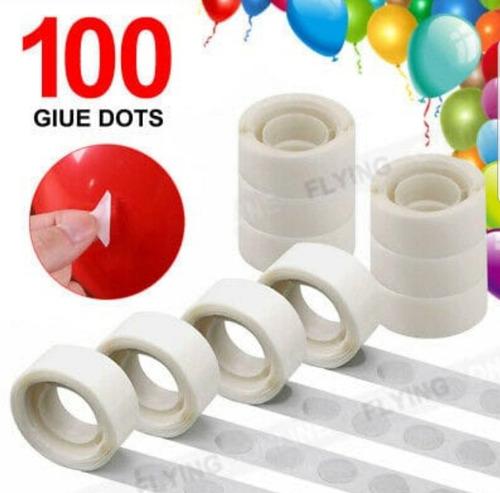 Pegamento Para Globos 100 Unidades Por Rollo
