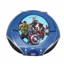 Radio Grabadora Avengers Marca Yes Aux Cd Usb Fm Vengadores