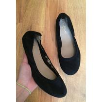 Hermosos Zapatos Flats Cole Haan Nike Negros Suede 24!!
