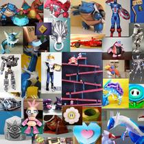 Papercrafts De Nintendo,anime,dioramas,guitarras,vehiculos