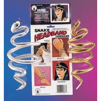 Disfraz - Plata Serpiente Señoras De La Pulsera Egipcia