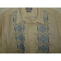 Camisa Lucky Brand Fashion Estilo Hawaiana Bordada Nueva T L