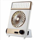 Ventilador De Carregamento Eltrico Solar Porttil Dourado