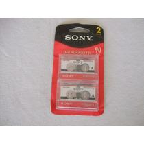 Microcassette Sony Mc-90 Minutos Estuche De 2