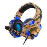 Diadema Gamer Led Usb 3.5 Militar Microfono Pc Lap Ps4 Xbox