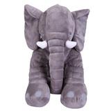 Peluche Elefante Almohada Felpa Fino Chico 28 Cm Bebes Moda